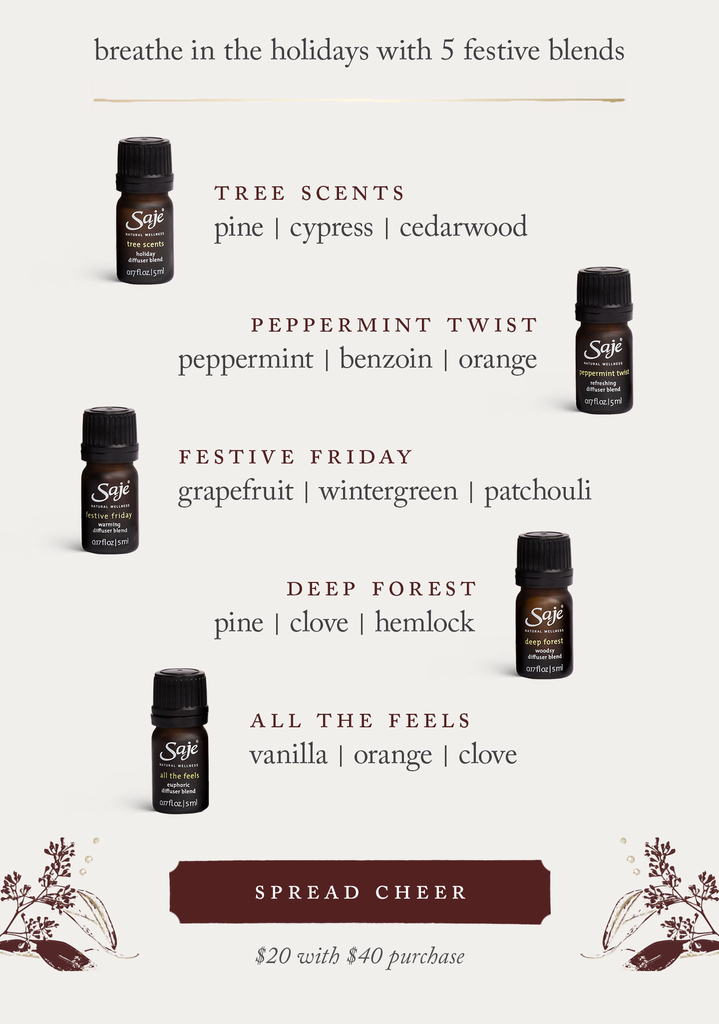 Good Cheer - diffuser blend collection